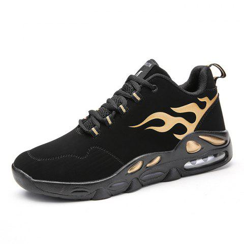 Men Lace Up Wing Tip Athletic Sports Shoes Sneakers - GOLD 41