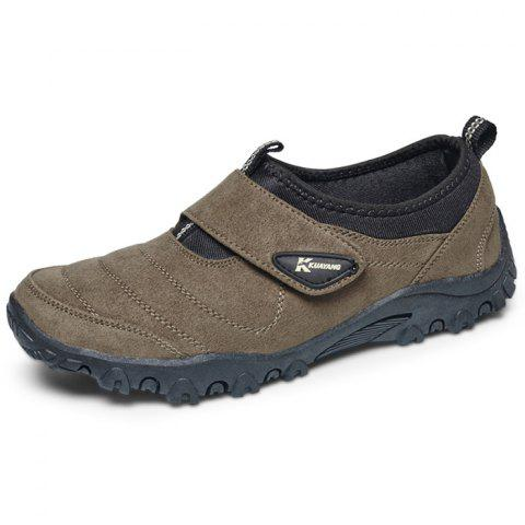 Outdoor Comfortable Classic Slip-on Casual Flat Shoes for Men - BROWN BEAR 41