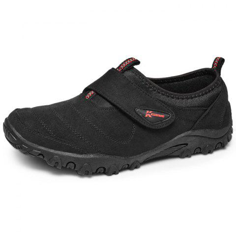Outdoor Comfortable Classic Slip-on Casual Flat Shoes for Men - BLACK 42