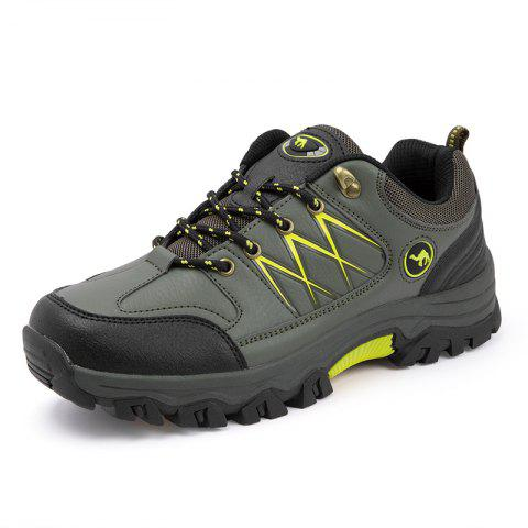 Male Stylish Ventilate Sneakers - HAZEL GREEN 41
