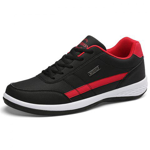 Comfortable Fashion Leather Sports Shoes for Man - BLACK 39