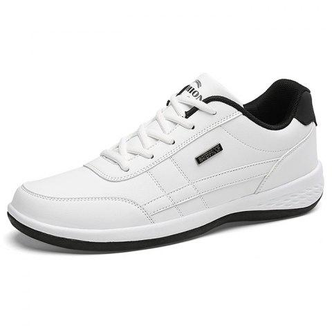 Comfortable Fashion Leather Sports Shoes for Man - WHITE 39