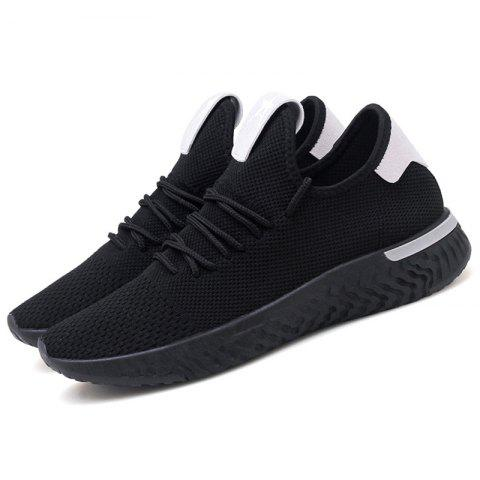 Flying Woven Wild Student Mesh Casual Shoes for Man - BLACK 42