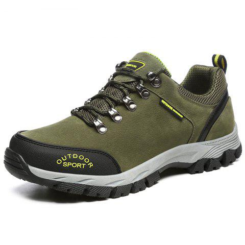 Fashion Outdoor Durable Classic Comfortable Anti-slip Hiking Shoes for Men - ARMY GREEN 45