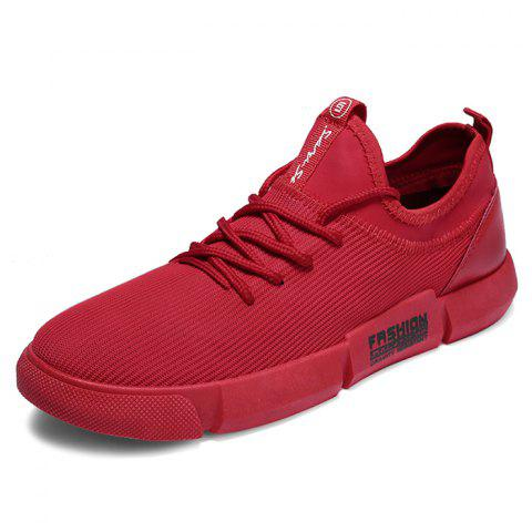Wild Student Breathable Casual Running Sneakers for Man - RED 42