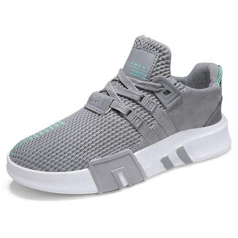 Mesh Breathable Casual Sports Shoes for Man - GRAY 44