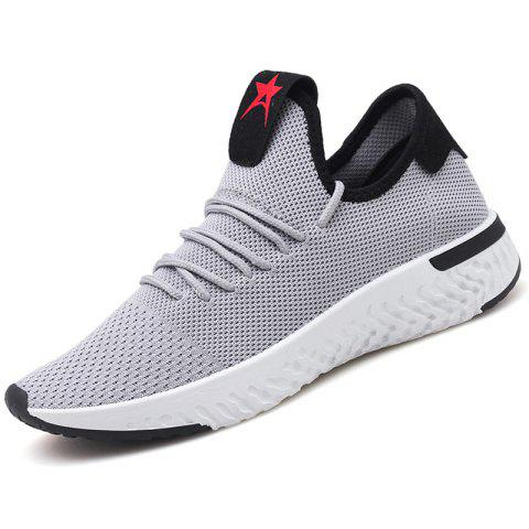 Flying Woven Wild Student Mesh Casual Shoes for Man - GRAY 43