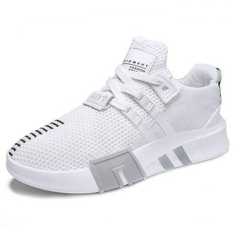 Mesh Breathable Casual Sports Shoes for Man - WHITE 39