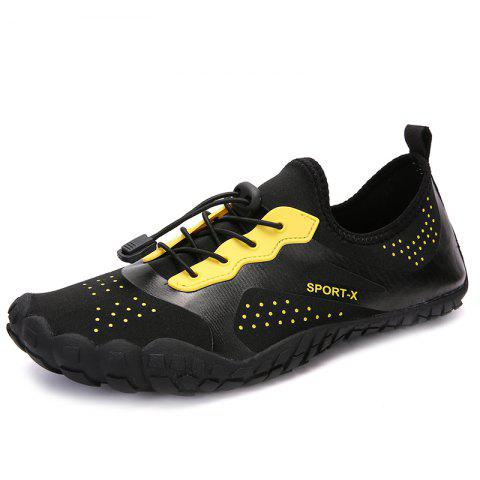 Fashion Breathable Quick Dry Light Couple Sneakers - BLACK 42