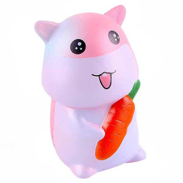 SANQIELAN Jumbo Squishy Slow Rebound Toy Little Hamster for Relieving Stress - PIG PINK