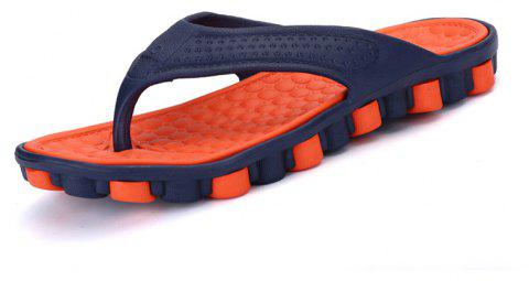 Sandales Mode homme Summer Flip Flops - Orange 44