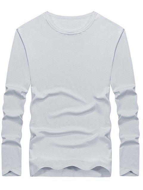 Casual Solid Color Comfortable Tee - WHITE L