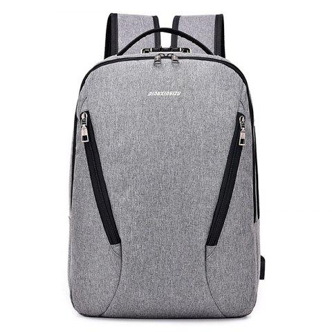 Leisure Solid Multifunctional Durable Couple Travel Backpack - DARK GRAY