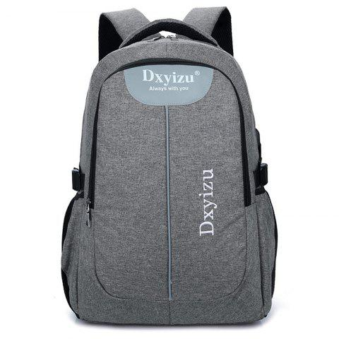 Fashion Durable Canvas Large Capacity Couple Backpack - DARK GRAY