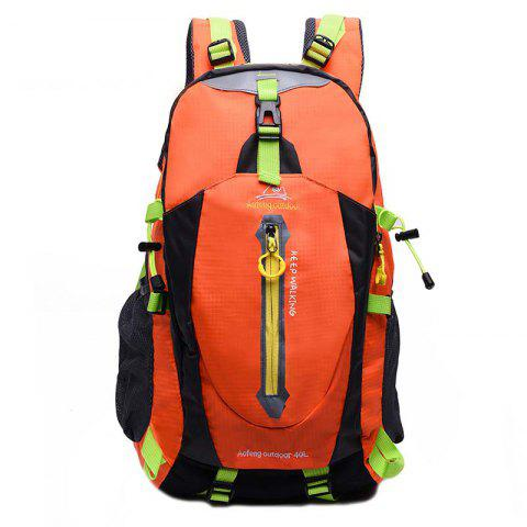 Aofeng Waterproof Nylon Backpack for Travel and Outdoor Sports - HALLOWEEN ORANGE