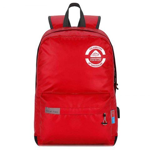 OutdoorLocallion Waterproof Polyester Backpack for Hiking Travel - FIRE ENGINE RED