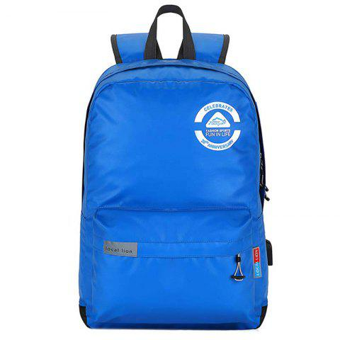 OutdoorLocallion Waterproof Polyester Backpack for Hiking Travel - BLUE ORCHID