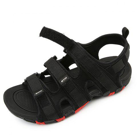 Summer Breathable Casual Personality Sandals for Man - BLACK 42