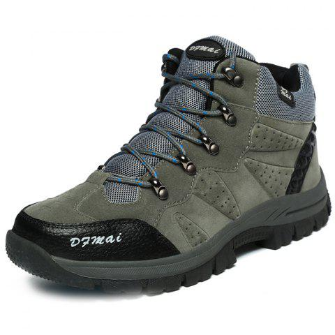 Outdoor Anti-slip Comfortable Casual Couple Hiking Shoes - JET GRAY 48