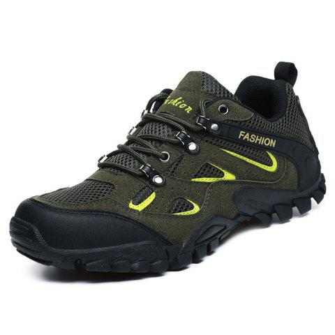 Men's Outdoor Hiking Mesh Sports Shoes - ARMY GREEN 40