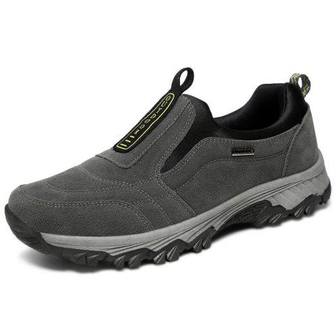 Outdoor Durable Comfortable Slip-on Casual Hiking Shoes for Men - GRAY 45