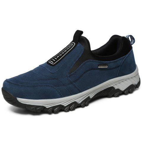 Outdoor Durable Comfortable Slip-on Casual Hiking Shoes for Men - DEEP BLUE 45