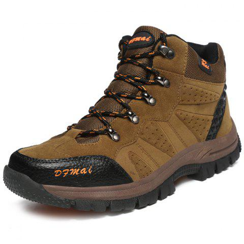Outdoor Anti-slip Comfortable Casual Couple Hiking Shoes - BROWN 42