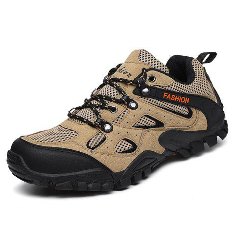 Men's Outdoor Hiking Mesh Sports Shoes - LIGHT KHAKI 40