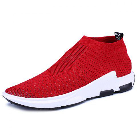 Men's Lightweight Breathable Casual Sports Shoes Fashion Sneakers - RED EU 40