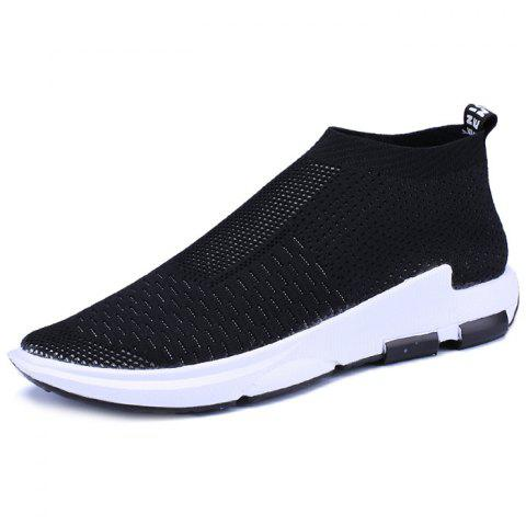 Men's Lightweight Breathable Casual Sports Shoes Fashion Sneakers - BLACK EU 41