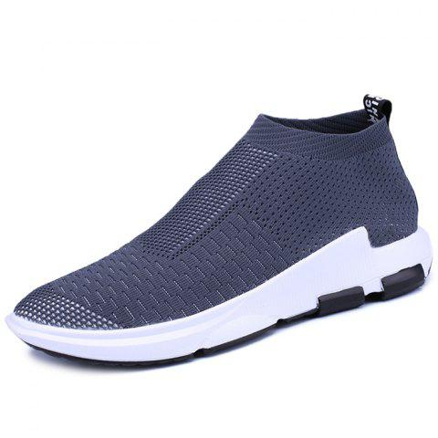 Men's Lightweight Breathable Casual Sports Shoes Fashion Sneakers - GRAY EU 42