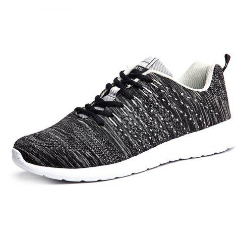 Sports Comfortable Breathable Running Shoes for Man - BLACK EU 44