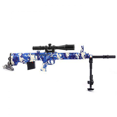 Sniper Rifle Gun Toy Alloy Weapon Model Keychain - BLUE ORCHID