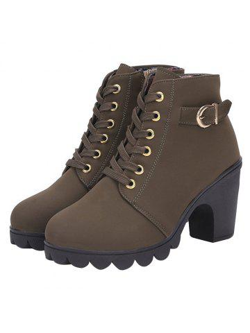 d31422db31f3 Casual Chunky Heel Ankle Boots for Women