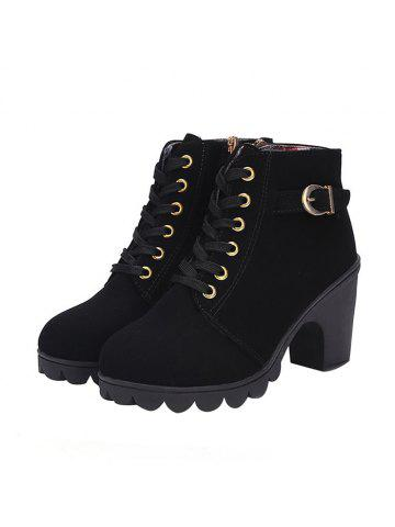Casual Chunky Heel Ankle Boots for Women c38e4785abbd