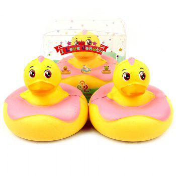SANQIELAN Jumbo Squishy Slow Rebound Toy Duck for Relieving Stress 1pc - CORN YELLOW