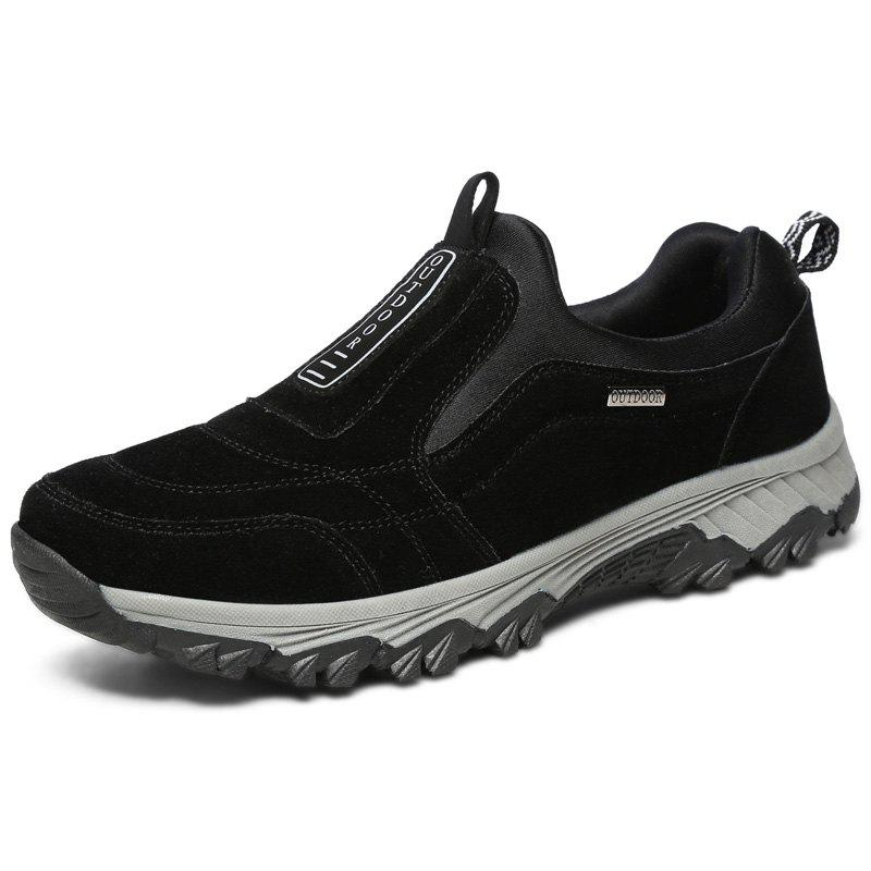 Outdoor Durable Comfortable Slip-on Casual Hiking Shoes for Men - BLACK 45