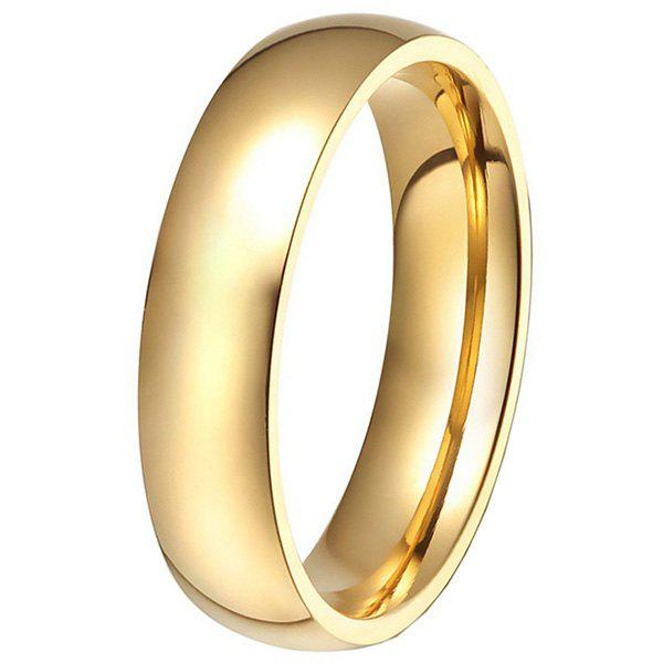 6mm Width Durable Stainless Steel Men Ring - GOLD 9