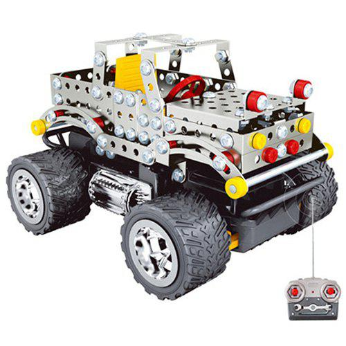 Metal DIY RC Off-road Car Building Blocks Educational Toy for Children 220pcs / Set - SILVER