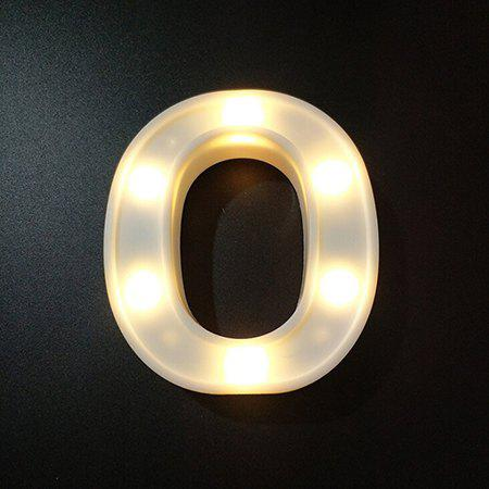 LED Night Light 26 Alphabet Letters Numbers DIY Combination 1pc