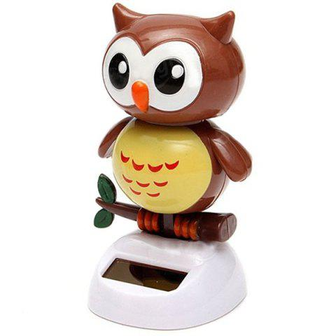 Solar Energy Bobblehead Owl Decoration for Car / House - TIGER ORANGE