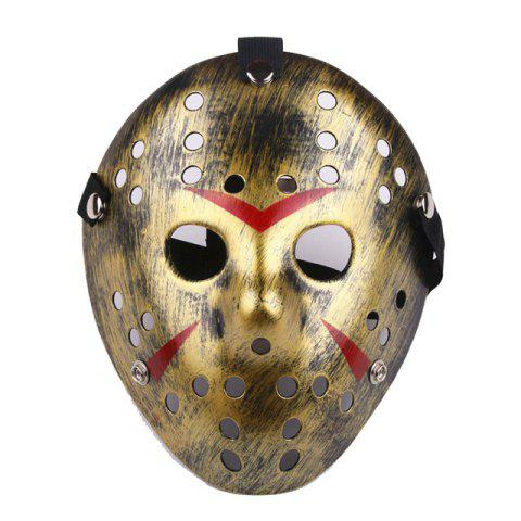Masque de protection de baseball Halloween drôle Costume de hockey - Or