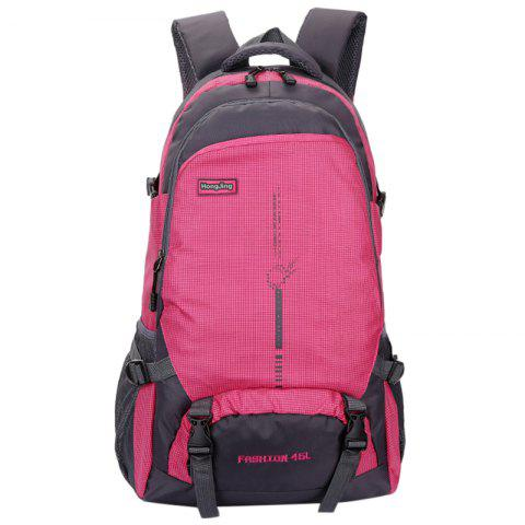 Aofeng Outdoor Sports Backpack for Camping Hiking - ROSE RED