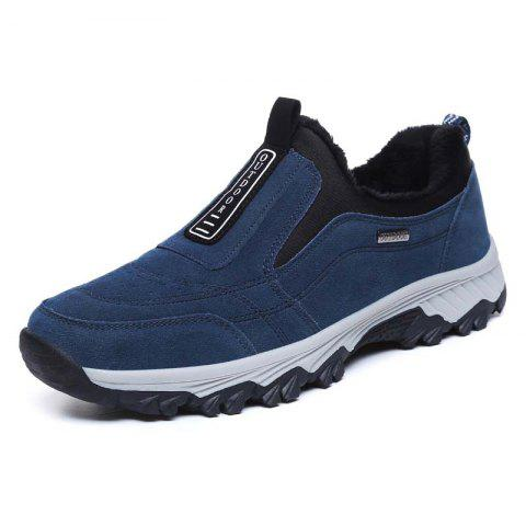 Male Classic Comfortable Anti-slip Hiking Shoes - STEEL BLUE 44