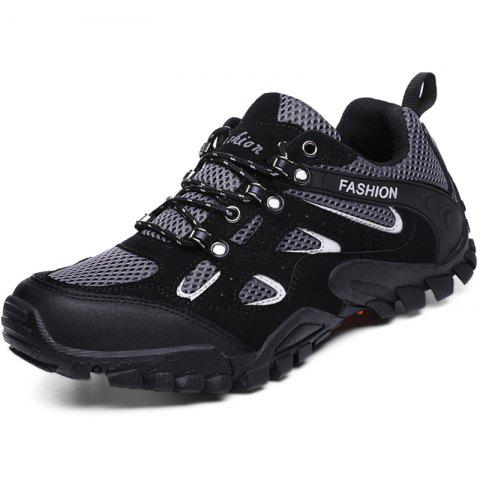 Outdoor Breathable Shock-absorbing Hiking Sports Shoes for Men - BLACK 44