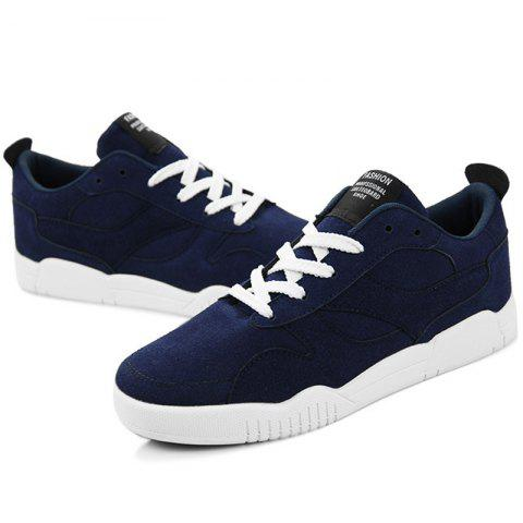 Students Sports Leisure Suede Low-top Shoes for Man - BLUE EU 40