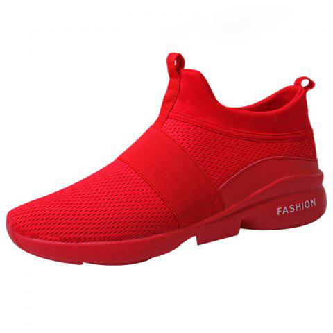 Male Mesh Wearable Casual Sports Running Shoes Sneakers - RED EU 39