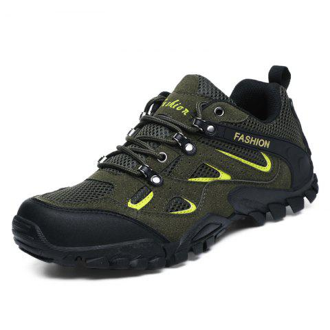 Outdoor Breathable Shock-absorbing Hiking Sports Shoes for Men - GREEN 42