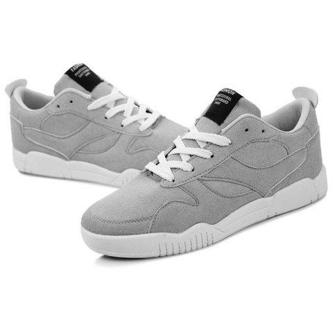 Students Sports Leisure Suede Low-top Shoes for Man - GRAY EU 40