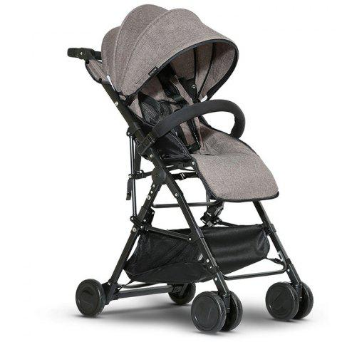 High Landscape Foldable Stroller for Baby - COFFEE